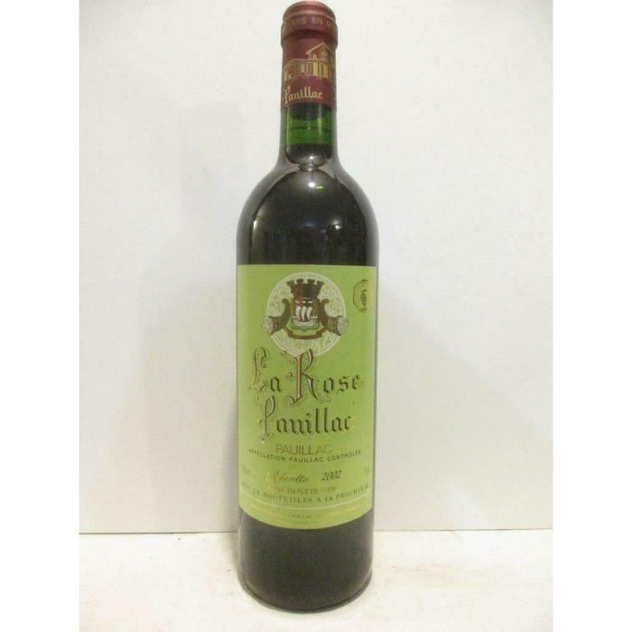 pauillac la rose pauillac fût de chêne rouge 2002 - bordeaux