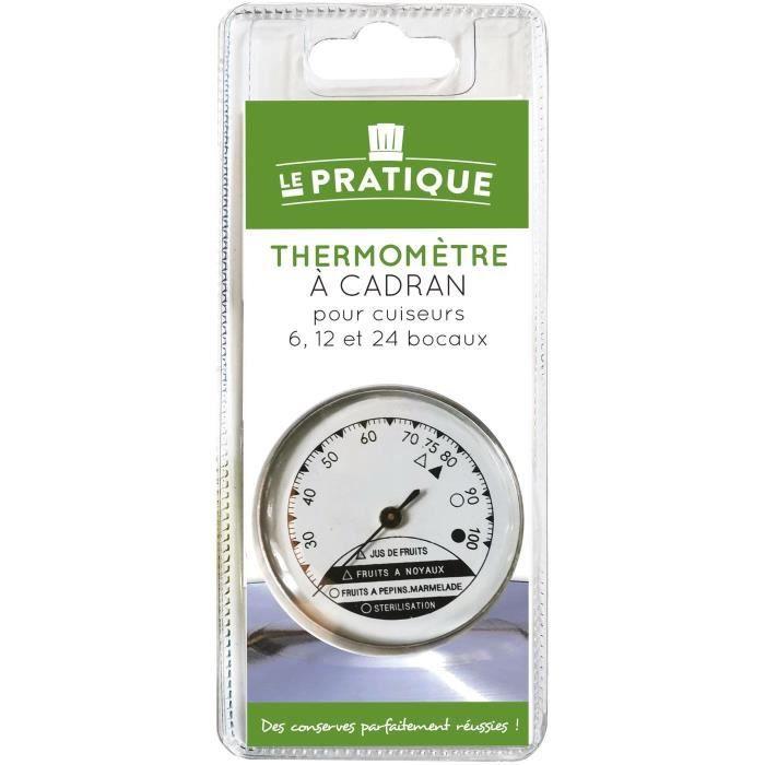 LE PRATIQUE - Thermomètre à cadran pour cuiseurs 5 11 et 24 bocaux
