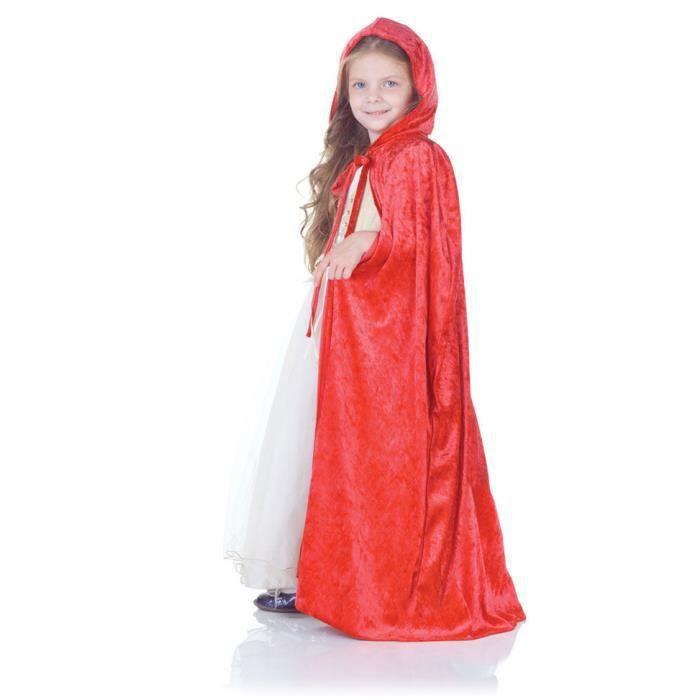 Cape de velours rouge pour les enfants