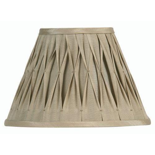 Oaks Lighting Abat-jour plissé Sutlej en soie Sable 12,7 cm