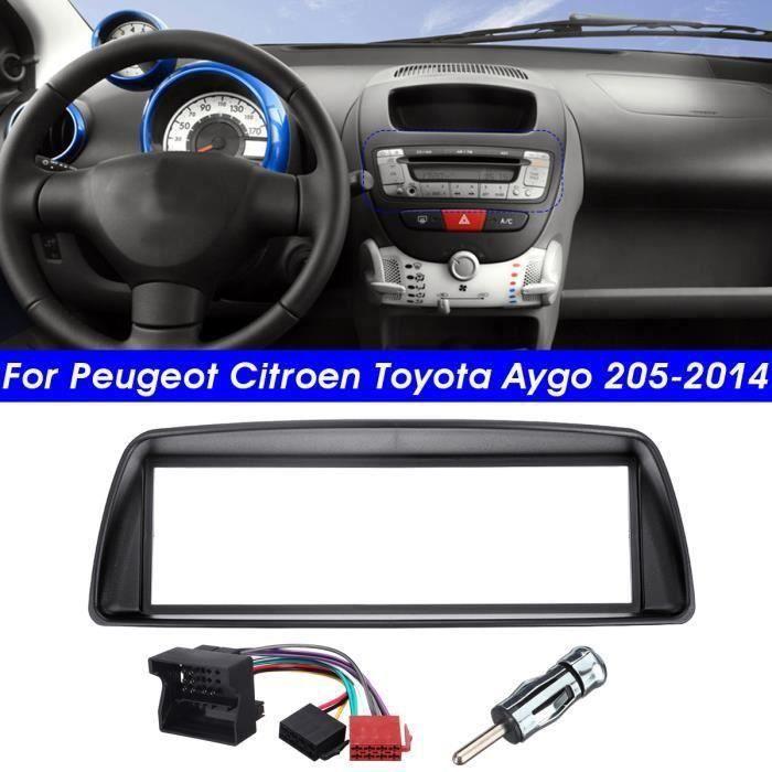 1-DIN Autoradio Stéréo Cadre Panneau de Façade d'DVD Dash Installation Pour Peugeot Citroen Toyota Aygo WYK59621