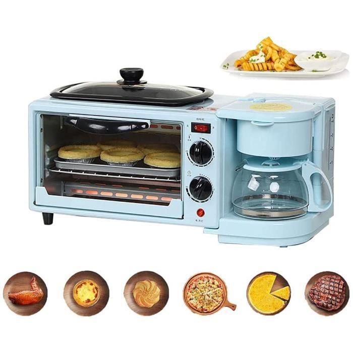 FOUR 3 en 1 mini four petit four four agrave pizza mini four electrique chaleur tournante Machine agrave Cafeacute Multifonction298