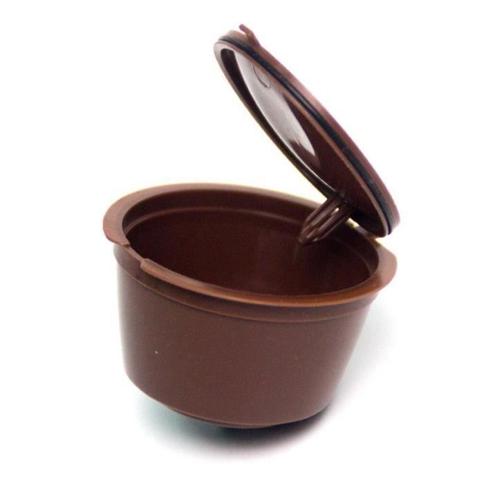 Café Filtres,Capsules de café réutilisables pour Dolce Gusto, filtre à café, filtre, panier - Type 3 brown #A3