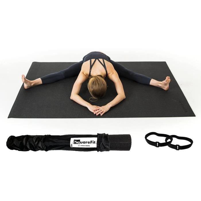 Tapis de Yoga Extra Large - 122x183cm épaisseur 8mm - Grand Tapis de Sol Sport Haut de Gamme et Confortable pour Yoga Pilates Gym
