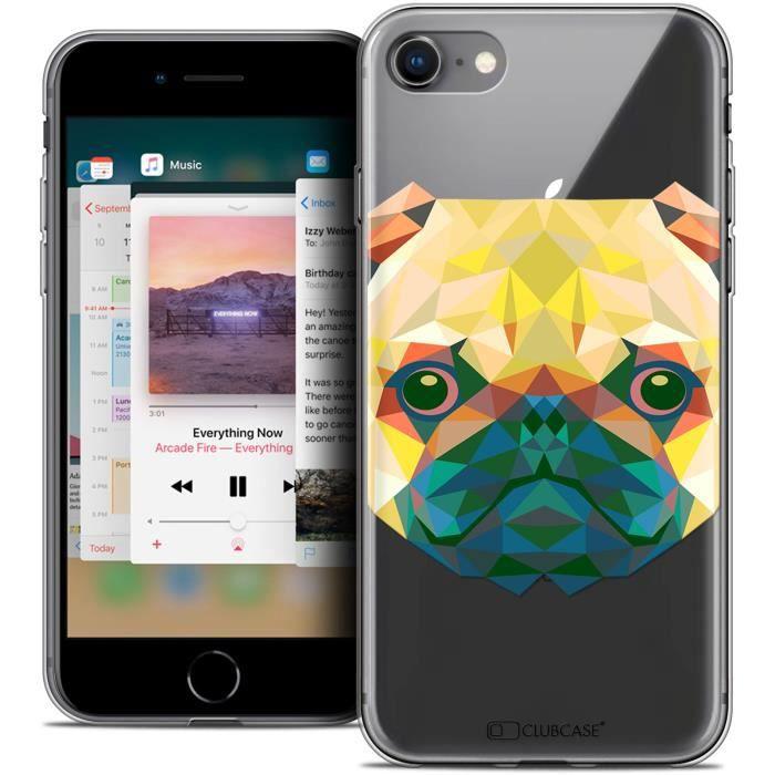 Coque Gel Apple iPhone 8 (4.7 ) Extra Fine Polygon Animals - Chien