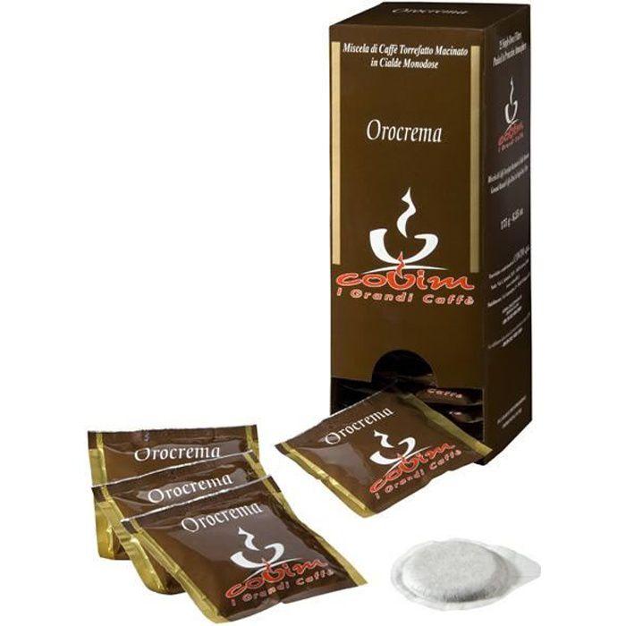 Covim - Boîte de 25 dosettes de café ese 80% robusta 20% arabica - orocrema