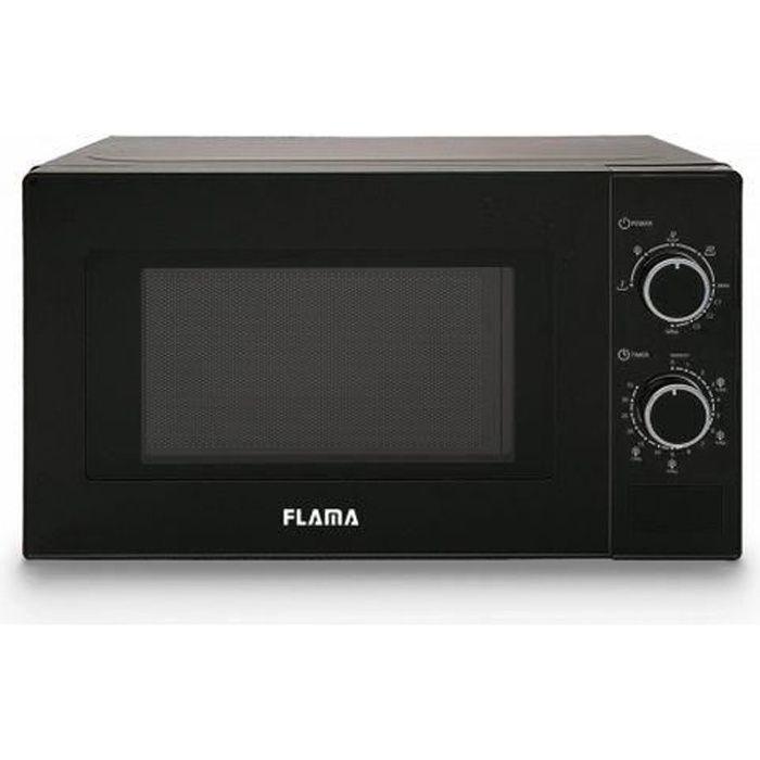 Micro ondes avec option Grill 20 L 700W Noir - Dimensions 44 x 26 x 35 cm couleur noir