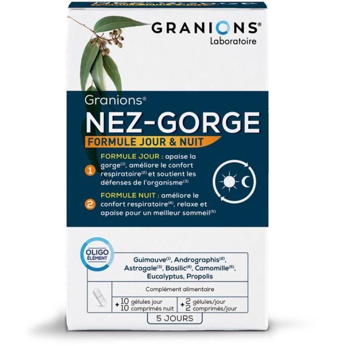GRANIONS® NEZ-GORGE - 10 GÉLULES + 10 COMPRIMÉS