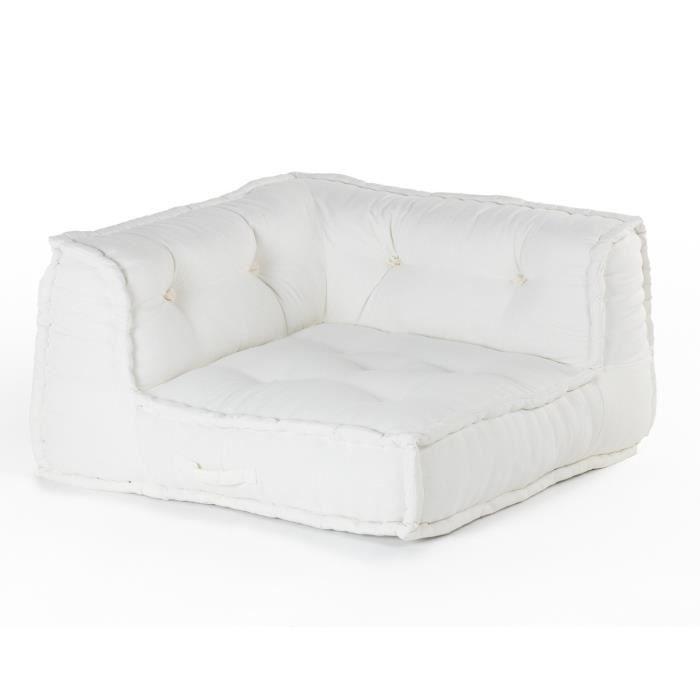 Canapé d'angle Blanc Confort