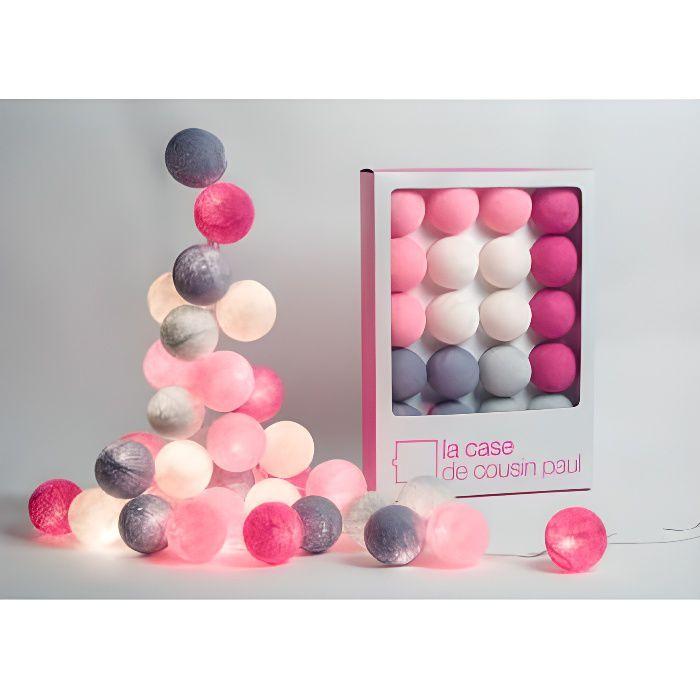 Guirlande lumineuse 20 boules pour chambre d'enfant - La Case de cousin Paul - Hoi An - 00701