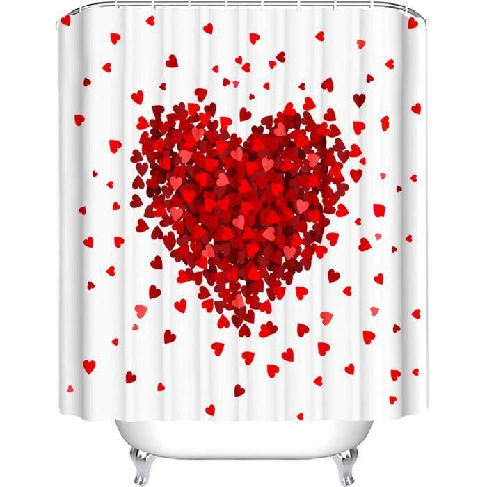 Rideau de douche PSG Paris anneaux inclus 3D effect imperméable 180 x 200 cm