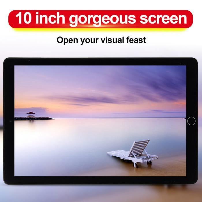 10.1 pouces tablette Pc 4G + 64G Android 8.1 suuport double carte rouge