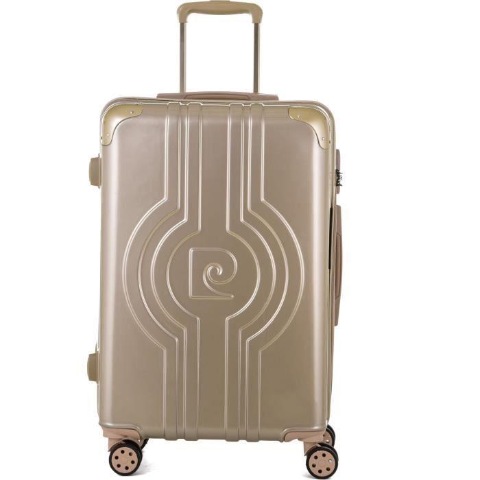 PIERRE CARDIN  Valise long week-end 65cm avec 8 roues - Couleur Champagne