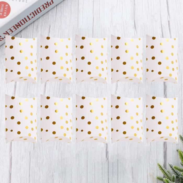 10pcs Gold Stamping Stripe Design Candy Box Creative Pillow Chocolate Storage Case Wedding Treat Party Favor Gift BOITE CADEAU