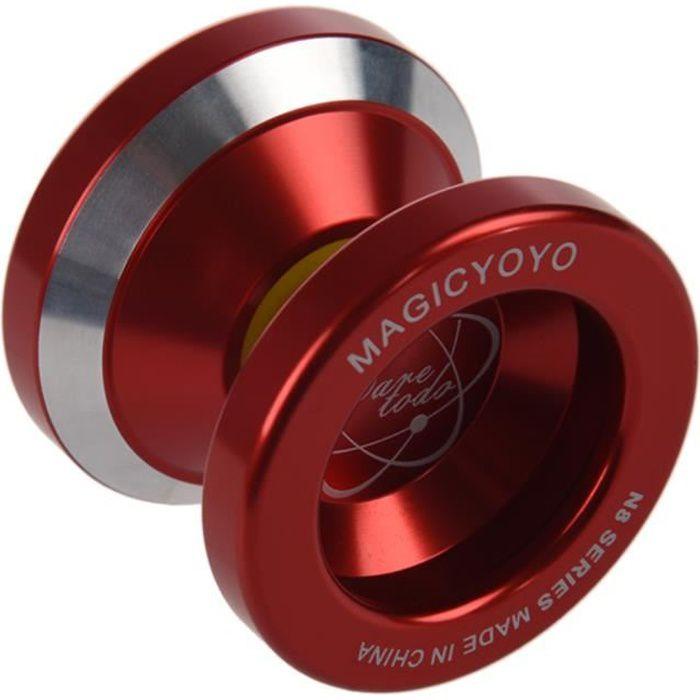 MAGIC YOYO N8 super professionnel YoYo + Corde + Sac + Gants (Rouge)