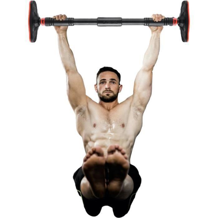 Barre de Traction pour porte sans vis Dip Station 90-125cm TEZAWA©️ Gym Exercice Fitness