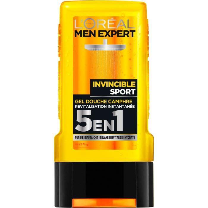 L'OREAL PARIS MEN EXPERT Gel douche Invincible - Pour homme - Sans paraben - 300 ml