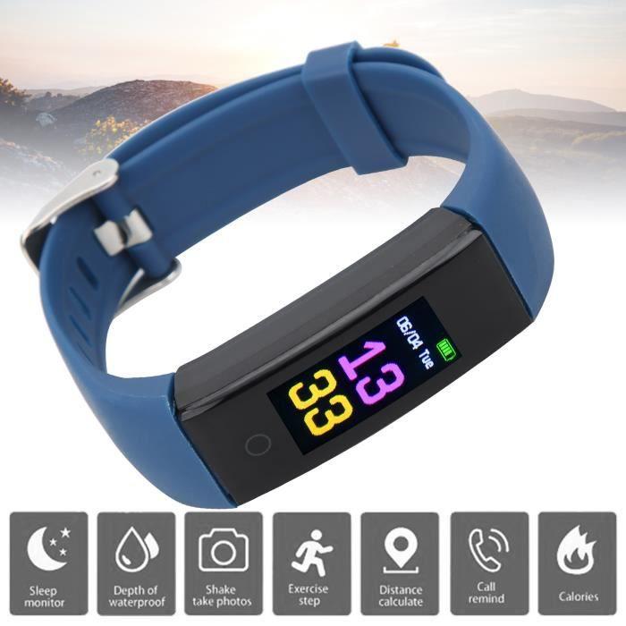 Bracelet de sport Montre Podomètre multifonction Smartband Gestion de la forme physique saine Chargement USB HB007