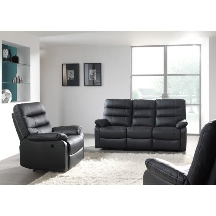 canap 2 places relax lectrique camal cuir brun achat vente canap sofa divan soldes. Black Bedroom Furniture Sets. Home Design Ideas