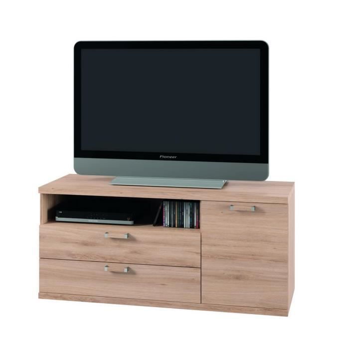 meuble tv kurtys chene clair 21873 achat vente meuble. Black Bedroom Furniture Sets. Home Design Ideas