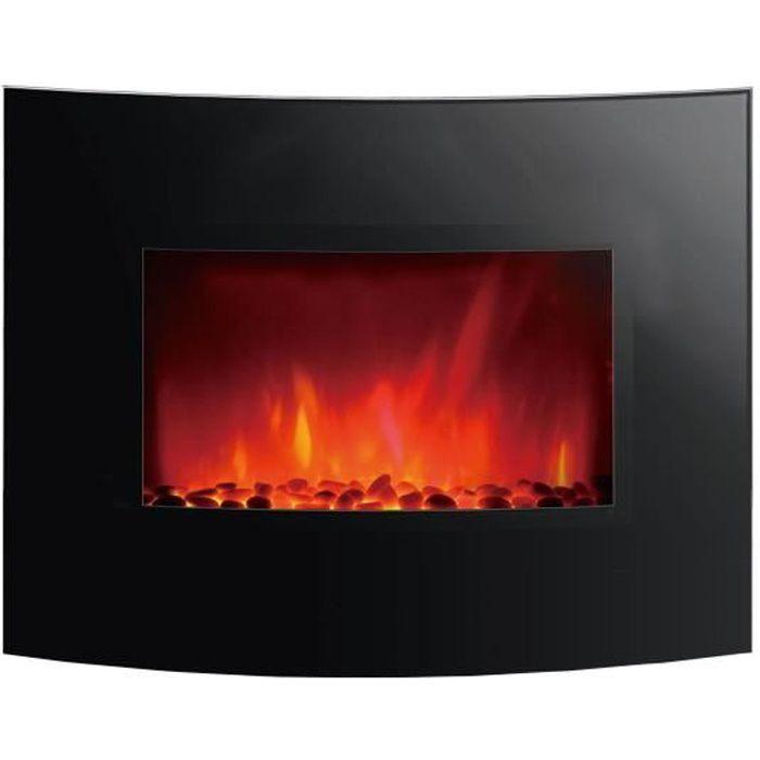 Klarstein Copenhagen /• Foyer /électrique avec Chauffage /• Chemin/ée /électrique /• 950 ou 1900W /• Thermostat /• Fonction de Chauffage commutable /• Effets de Flamme /• Noir