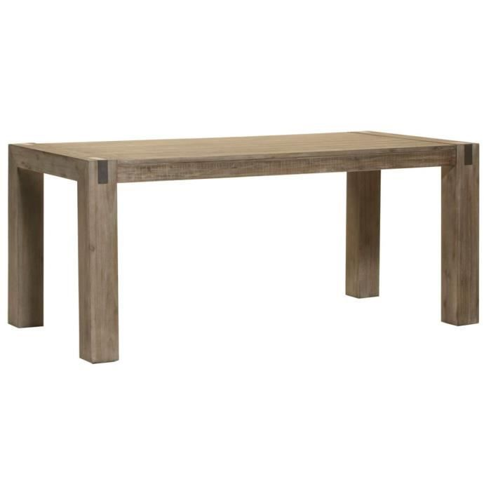 Table de salle manger toronto l 180 x p 90 x h 78 cm for Table salle a manger 250 cm