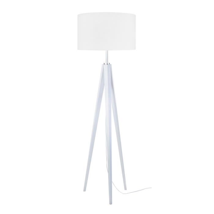 lampadaire en bois blanc achat vente lampadaire en. Black Bedroom Furniture Sets. Home Design Ideas