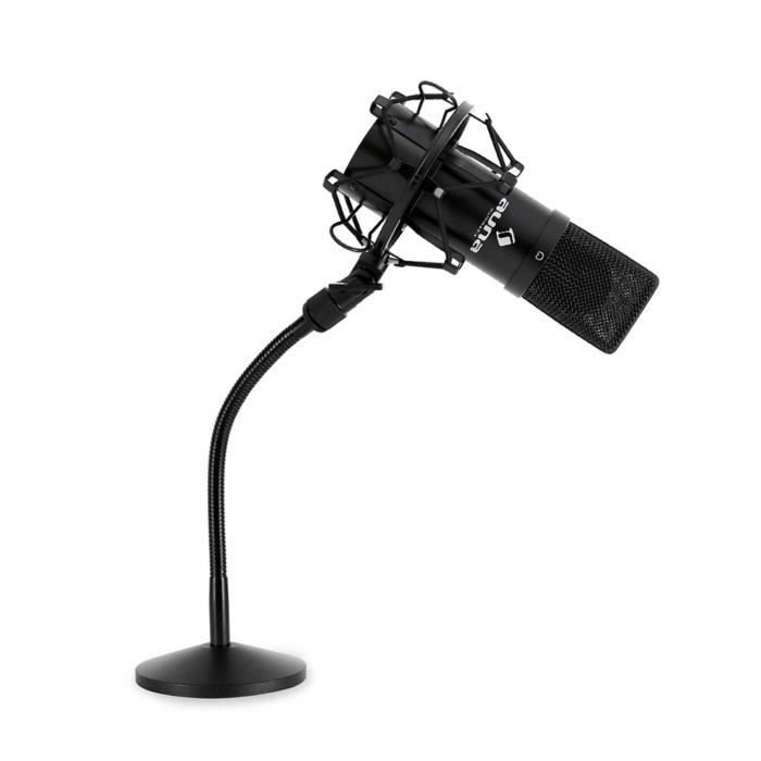 set micro studio avec micro usb pied de table achat vente microphone accessoire set. Black Bedroom Furniture Sets. Home Design Ideas
