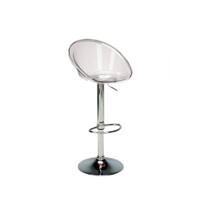 chaise de bar sphere transparente achat vente tabouret de bar cdiscount. Black Bedroom Furniture Sets. Home Design Ideas