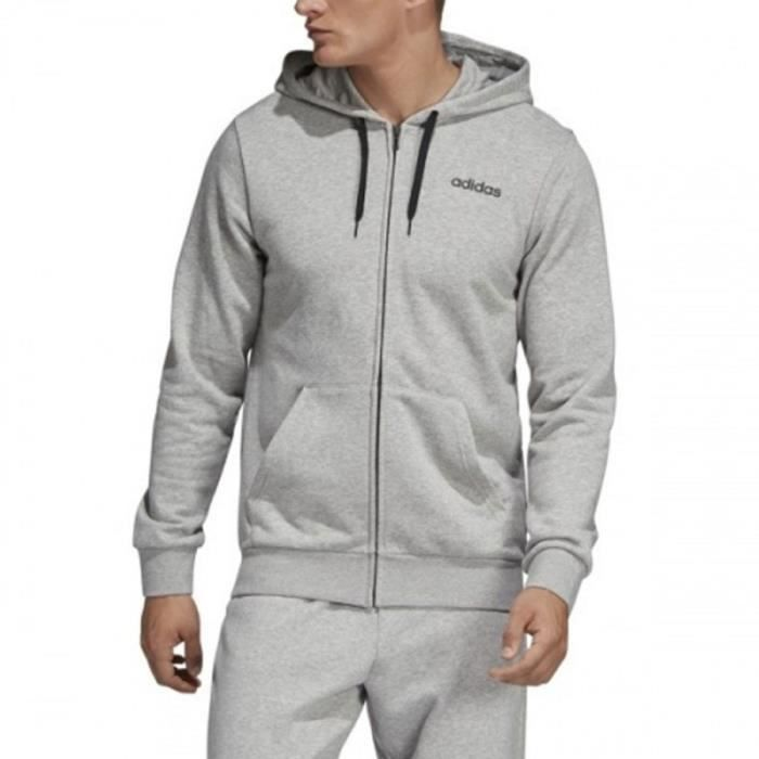 Sweat zippé gris homme Adidas Tentro