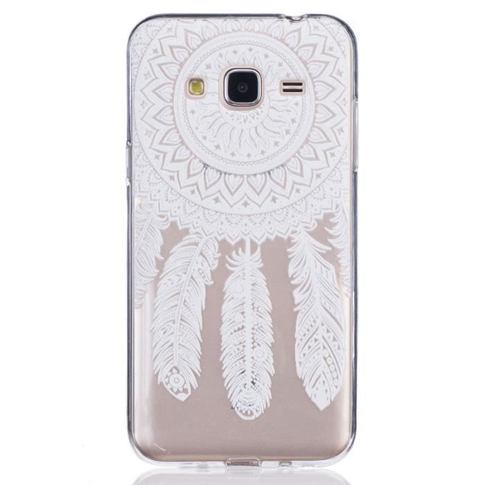 coque pour samsung galaxy j3 j3 2016 5 0 plumes monternet silicone soft tpu ultra mince. Black Bedroom Furniture Sets. Home Design Ideas