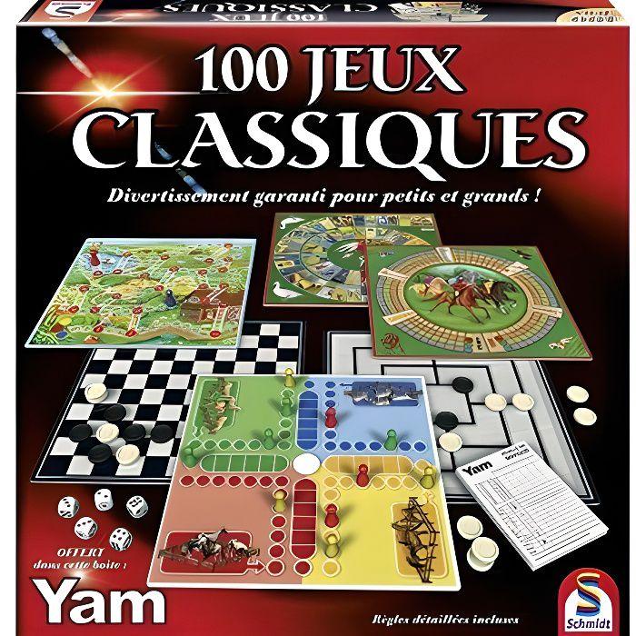 JEU SOCIÉTÉ - PLATEAU SCHMIDT AND SPIELE Coffret de jeux - 100 jeux clas