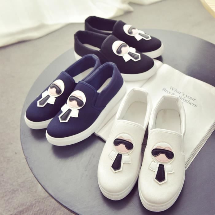 Femmes Mocassins Appartements Toile ronde Toe S...