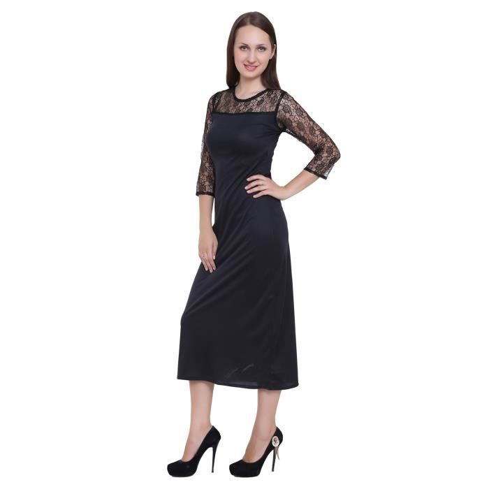 Womens Viscose Solid Midi Dress ForEZ0W3 Taille-34