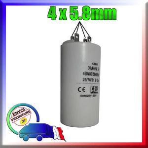 CONDENSATEUR Condensateur de démarrage de 30μF / uF moteur Pomp