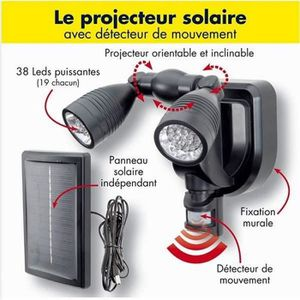 projecteur solaire detecteur achat vente projecteur. Black Bedroom Furniture Sets. Home Design Ideas