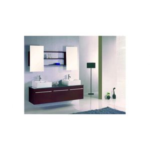 SALLE DE BAIN COMPLETE Meuble de Salle de bain Nérée 2 vasques + 1 miroir