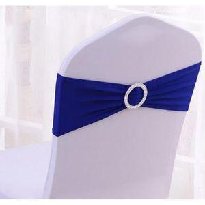 TULLE - NOEUD - RUBAN 50PCS Noeuds de Chaise Elastique Décoration pour C