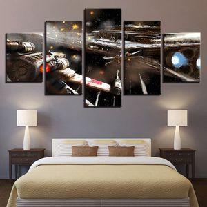 TABLEAU - TOILE Toiles imprimées 5 pièces Star Wars Movie Aircraft