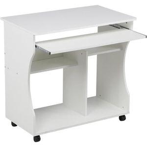MEUBLE INFORMATIQUE Bureau Informatique Roulant -80x48x76 cm - Table O