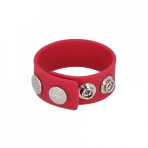 ANNEAU - COCKRING COCKRING SILICONE Cockring Wide Strap rouge Titus