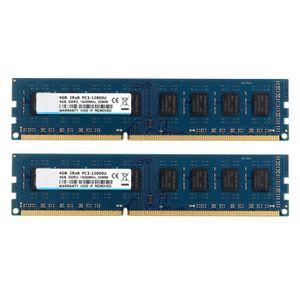 MÉMOIRE RAM RAM 8GB Kit (2X 4GB) 2RX8 DDR3 1600MHz UDIMM PC3-1