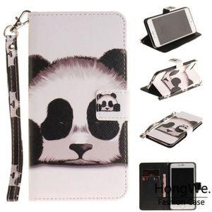 HOUSSE - ÉTUI Pour Apple iPhone 7 Plus-8 Plus Panda Cas de télép