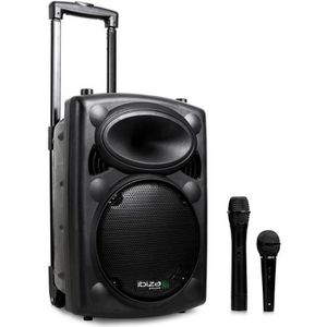 PACK SONO Ibiza Port 8 VHF - Enceinte sono portable avec mic