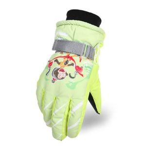 Gants Hiver Filles Enfants Waterproof Thinsulate Polaire Doublé Ski Gants