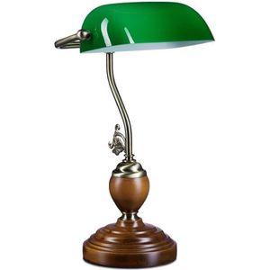 Les banquiers lampe blanc dans le look Vintage Lampe de chevet Lampe de banquier Lampe de bureau style