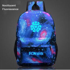 CARTABLE IRON MAN-Sac à dos Noctilucent Fluorescence-cartab