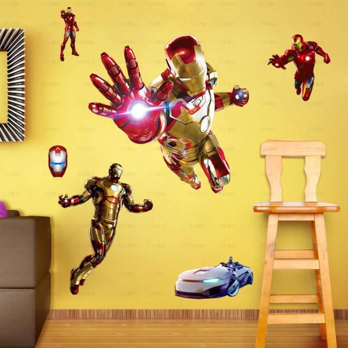 Avengers Iron Man Anime Cartoon Stickers Muraux Décoration Stickers Autocollants Papier Peint Valise