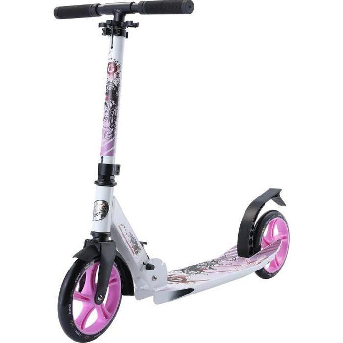 STAR-SCOOTER - Patinette-Trottinette 205mm - pour enfants de 7 ans - Edition Premium Cruising - garçons et filles - Blanc & Lilas