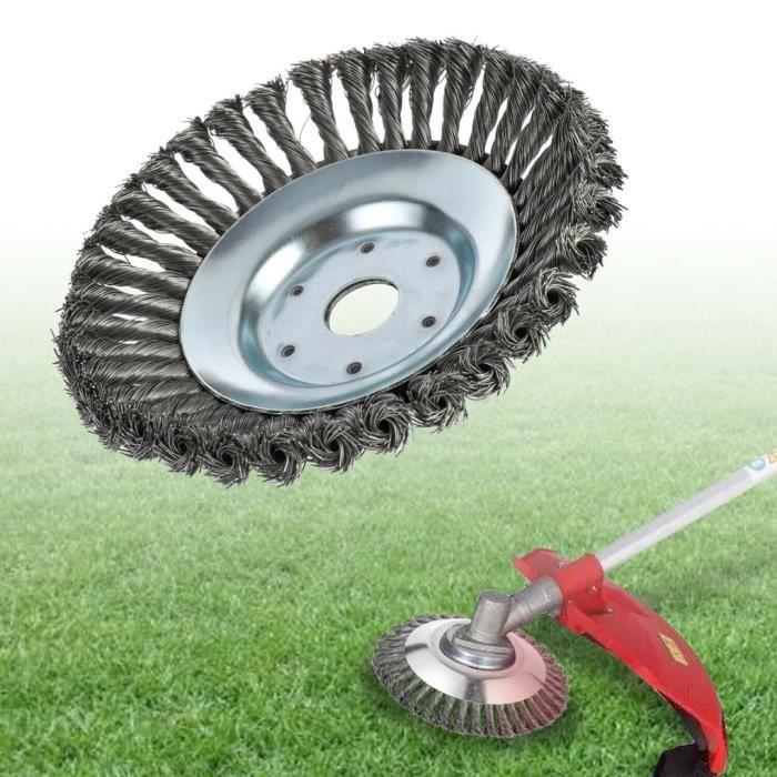 Tête universelle de coupe de roue de fil d'acier 8 pouces tondeuse à gazon roue de mangeur d'herbe tondeuse de désherbage outils de
